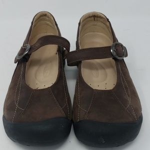 Keen Toyah Brown leather casual buckle maryjane 8